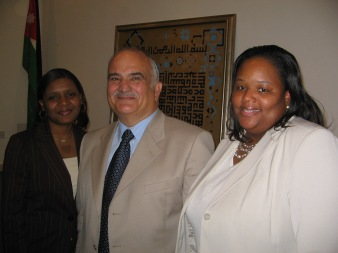 Rev. Andrea and I with Prince Hassan Bin Talal of the Heshemite Kingdom of Jordan, 2007. Prince Hasan is an amazing leader and a devout Muslim.