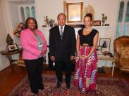 At the home of His Excellency Joseph B. C. Foe Atangana, Ambassador of the Republic of Cameroon to the United States
